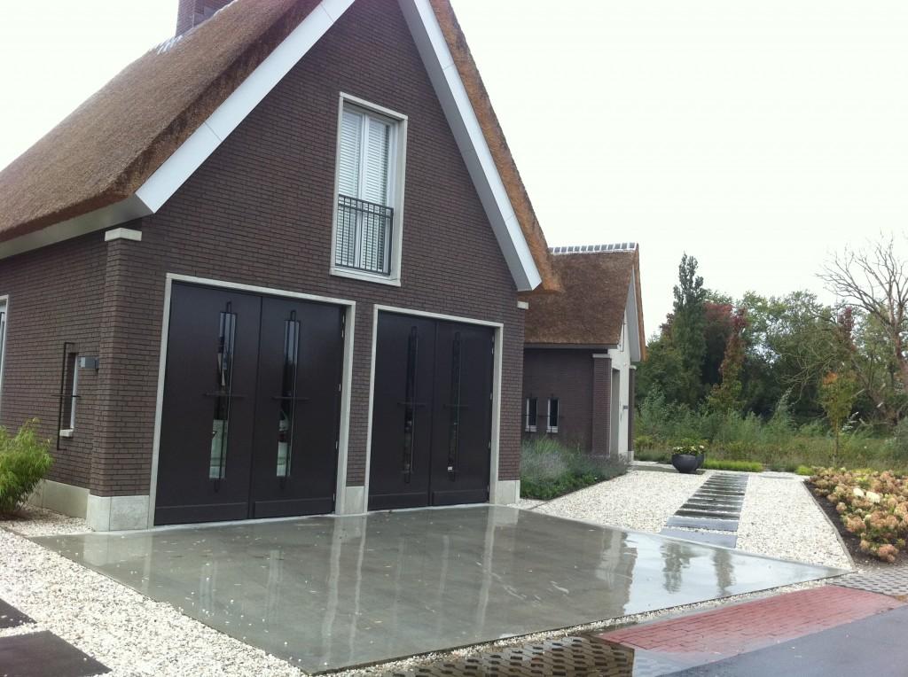 gevlinderde betonvloer voor oprit